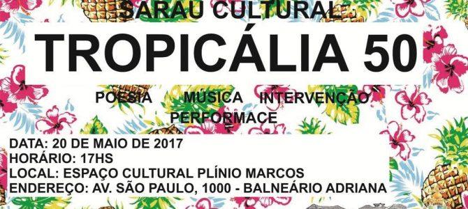 Calendário cultural de Maio contará com Literatura, Cinema, Poesia, Música e Comemoração aos 50 anos de Tropicalismo
